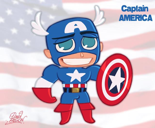 Chibi Captain America por princekido