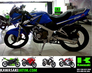 Ninja 150R Biru New Stripping