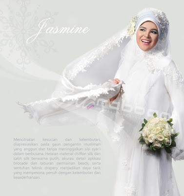 Kebaya dress putih akad nikah dari rabbani