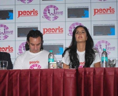 Saif, Katrina and Harman at Waves NGO Press Meet Photos