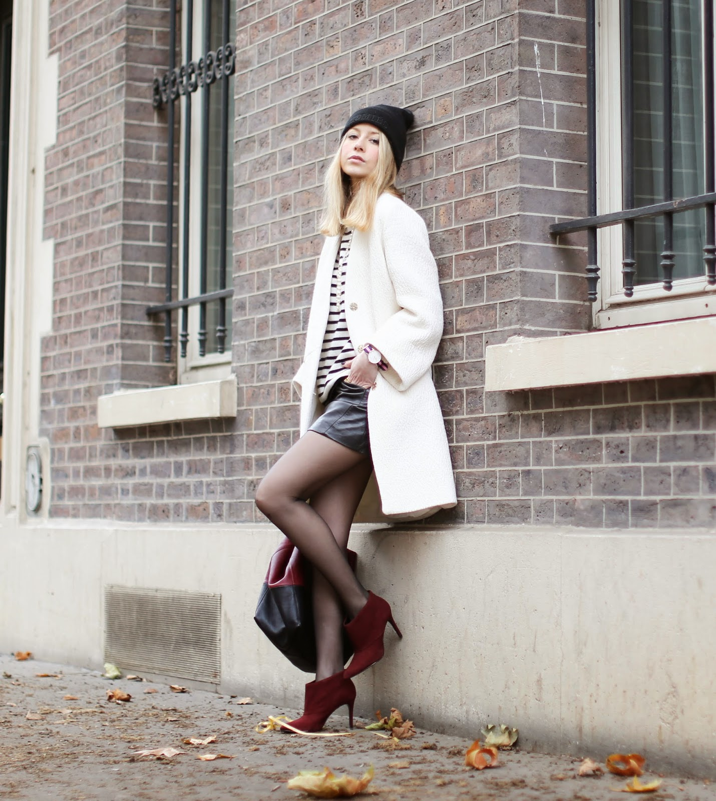 giveaway, iro, fashion blogger, zara, topshop, cos, burgundy, céline, homies beanie, chanel, streetstyle