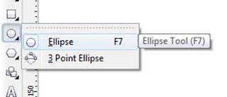 membuat lingkaran menggunakan Ellipse Tool