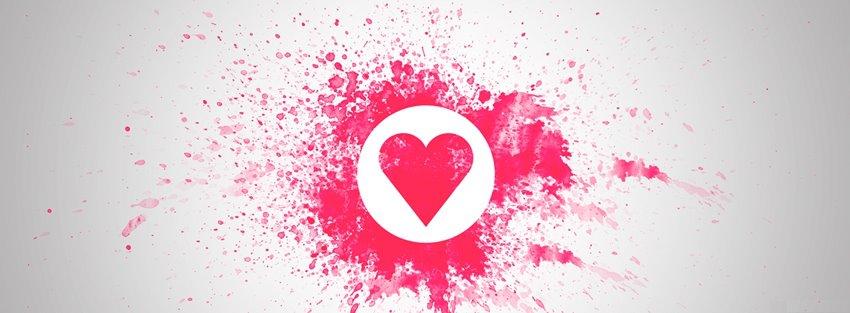 Ảnh bìa với biểu tượng trái tim tuyệt đẹp