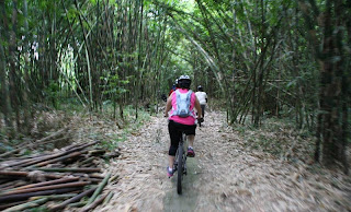 safety Ride In Middle Bamboo Forest - Bali Countryside Cycling Tour Tracks