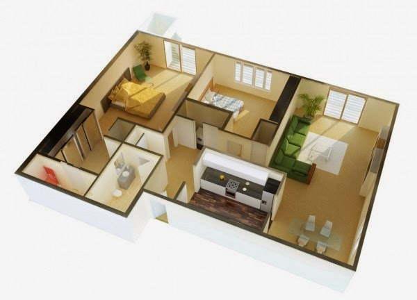 2 bedroom apartment house plans part 2 free stuffs for for 40m2 apartment design plan