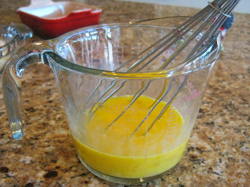 Whisk the eggs.