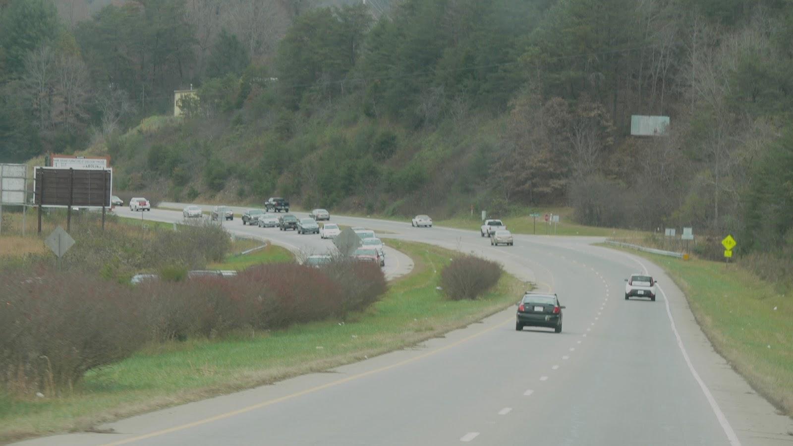 Traffic on the Sylva Road