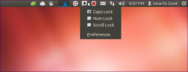 Keylock Indicator