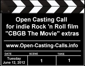 CBGB The Movie Open Casting Call