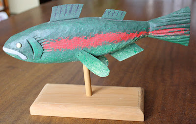 Carved Wood Fish Folk Art