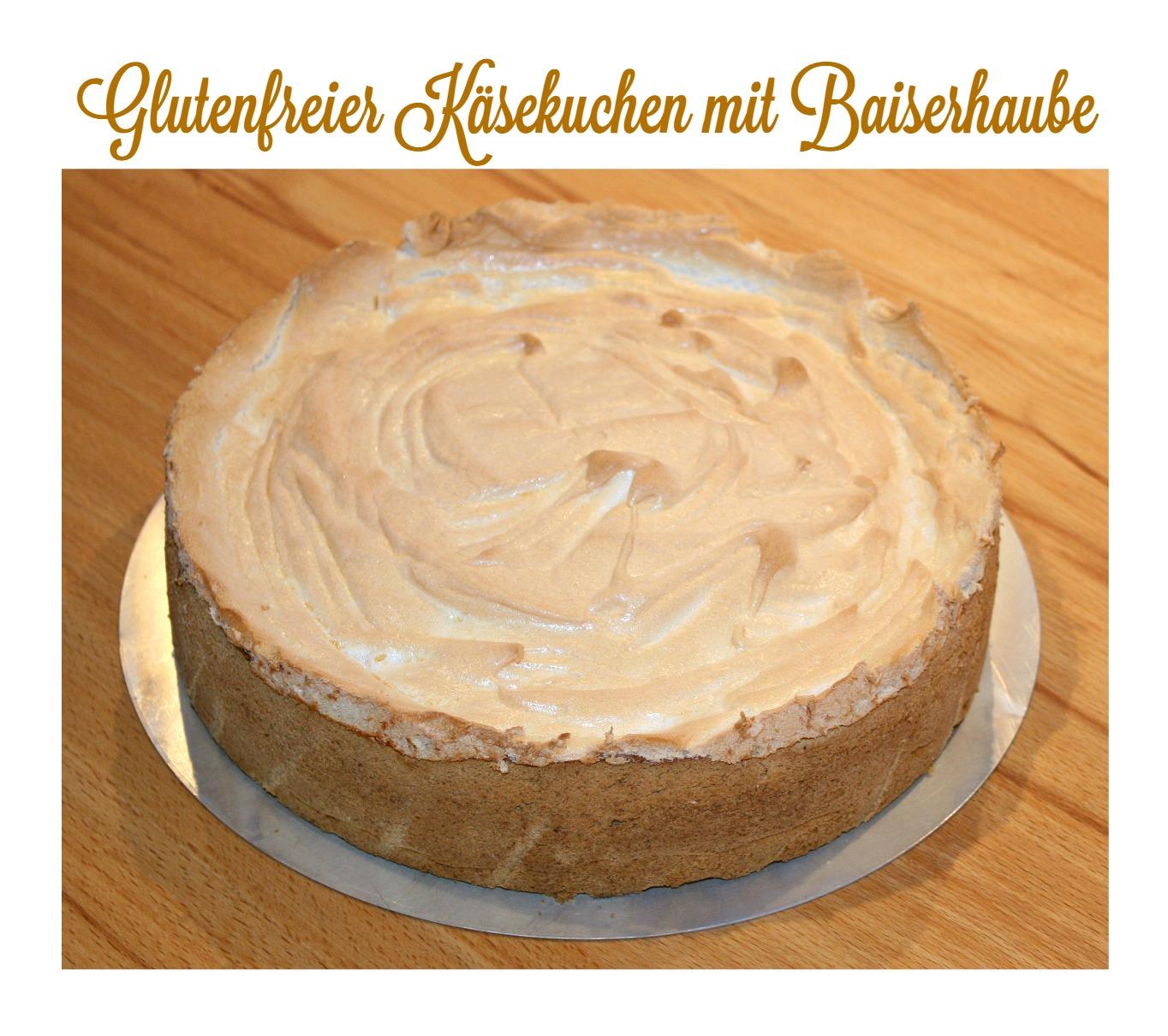 Rezept glutenfreier Käsekuchen mit Baiserhaube