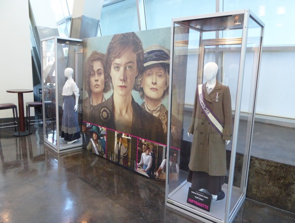 Suffragette film costume display