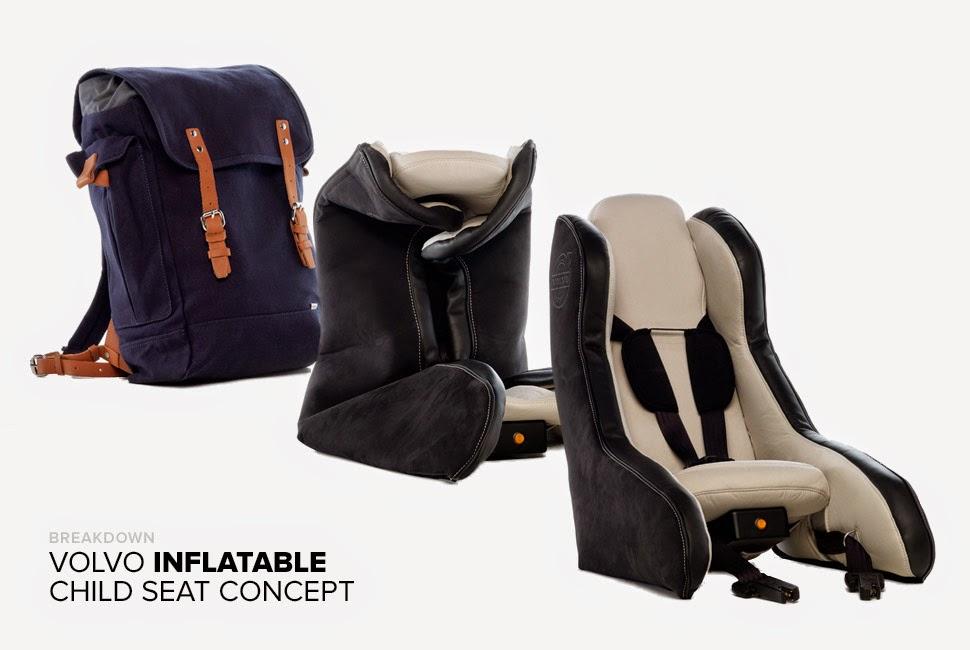 gyerekülés, Volvo, felfújható gyerekülés, biztonság, autó, The Inflatable Child Seat Concept