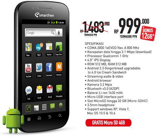 spesifikasi smartfren andromax i ad683g review dan harga andromax u2