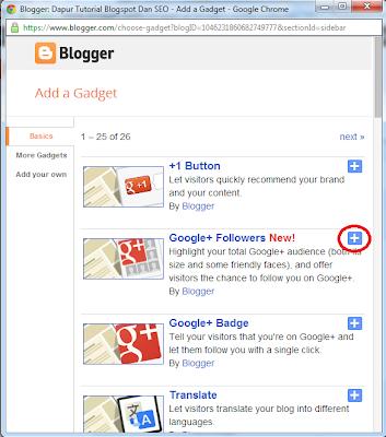 Widget Blogspot