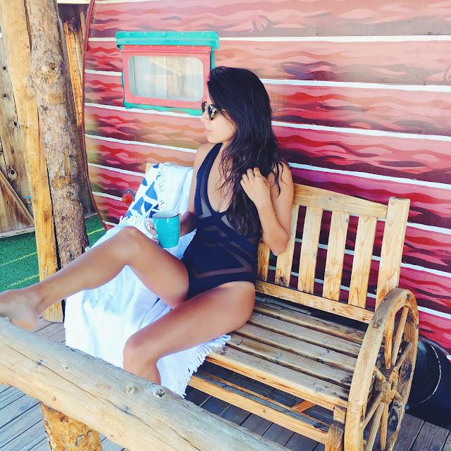Oye Swimwear Bane, Hicksville Trailer Palace, Bikini and Coffee