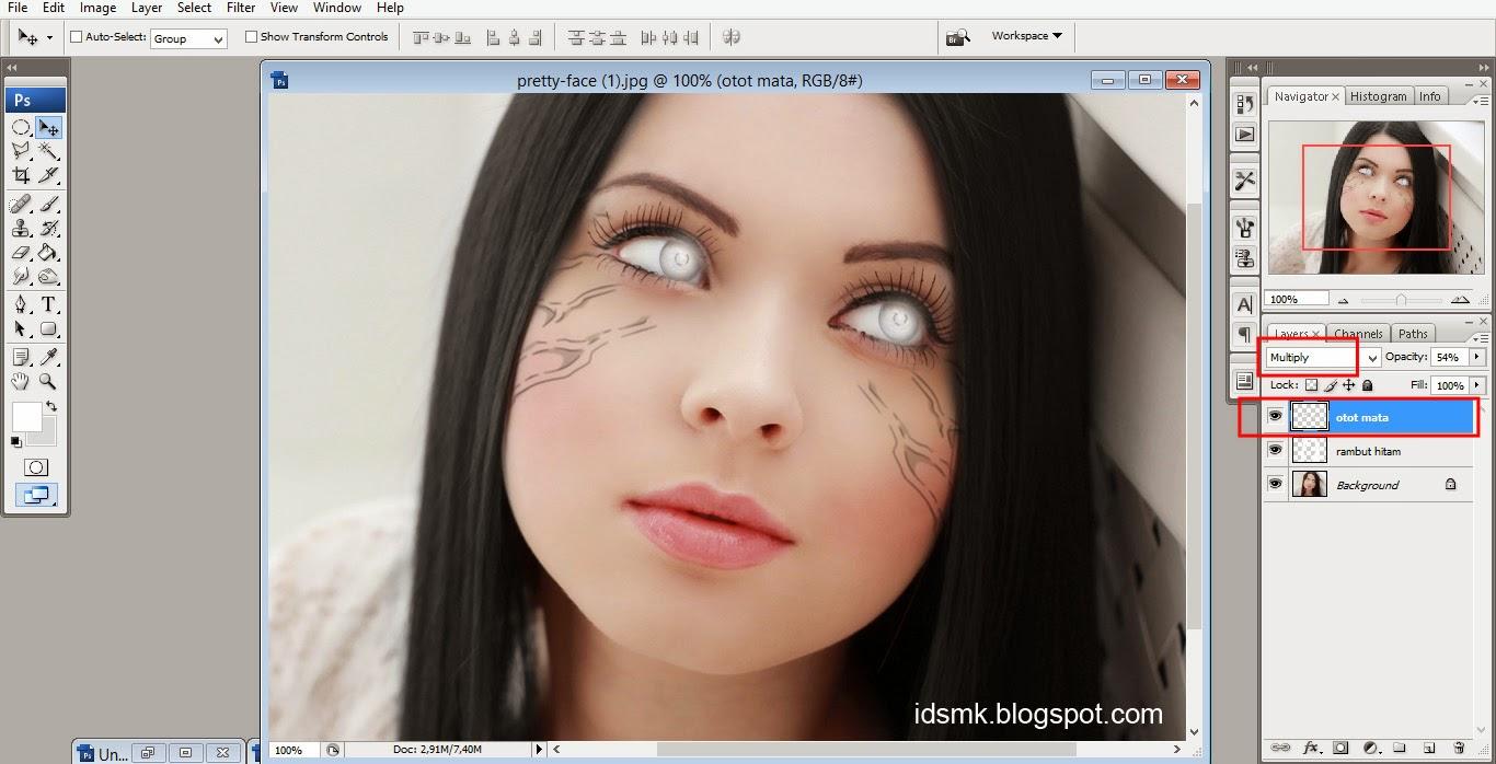 Membuat Efek Mata Byakugan dengan Photoshop
