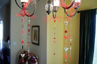 decoracion de lampara san valentin