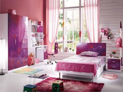 Desain Kamar Untuk cewek pink
