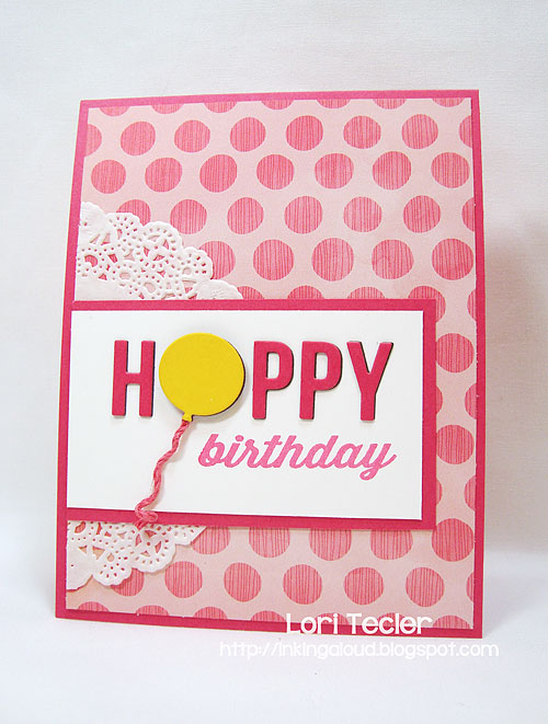 Happy Birthday-designed by Lori Tecler-Inking Aloud-stamps and dies from Avery Elle