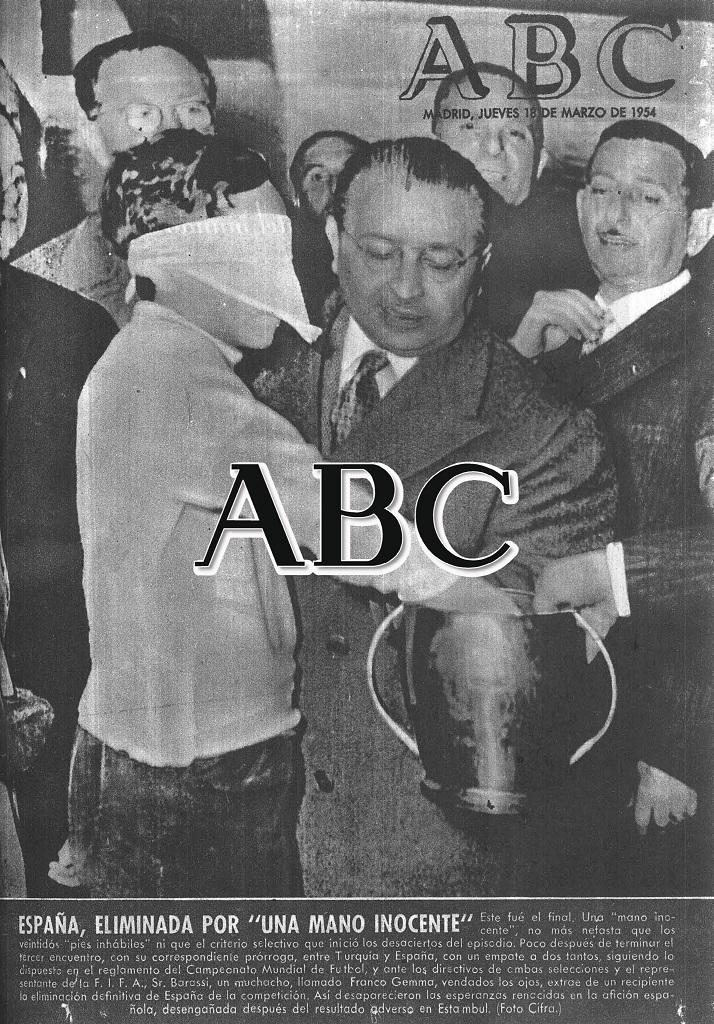 Portada de ABC del 18 de marzo de 1954