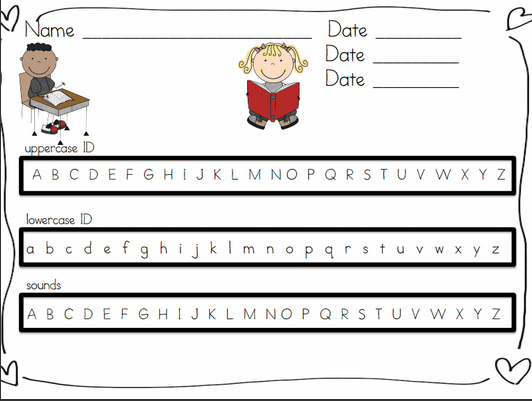 Kindergarten Lifestyle: Letter Identification Assessment FREEBIE