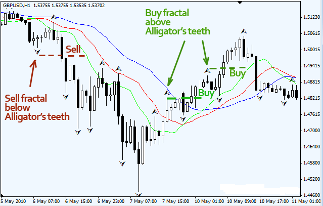 Trading with fractals in forex