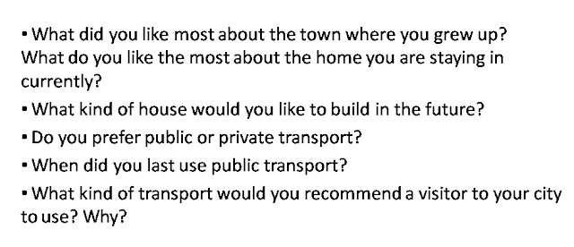IELTS What did you like most about the town where you grew up?