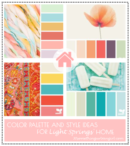 Color palette and style ideas for Light Springs' home