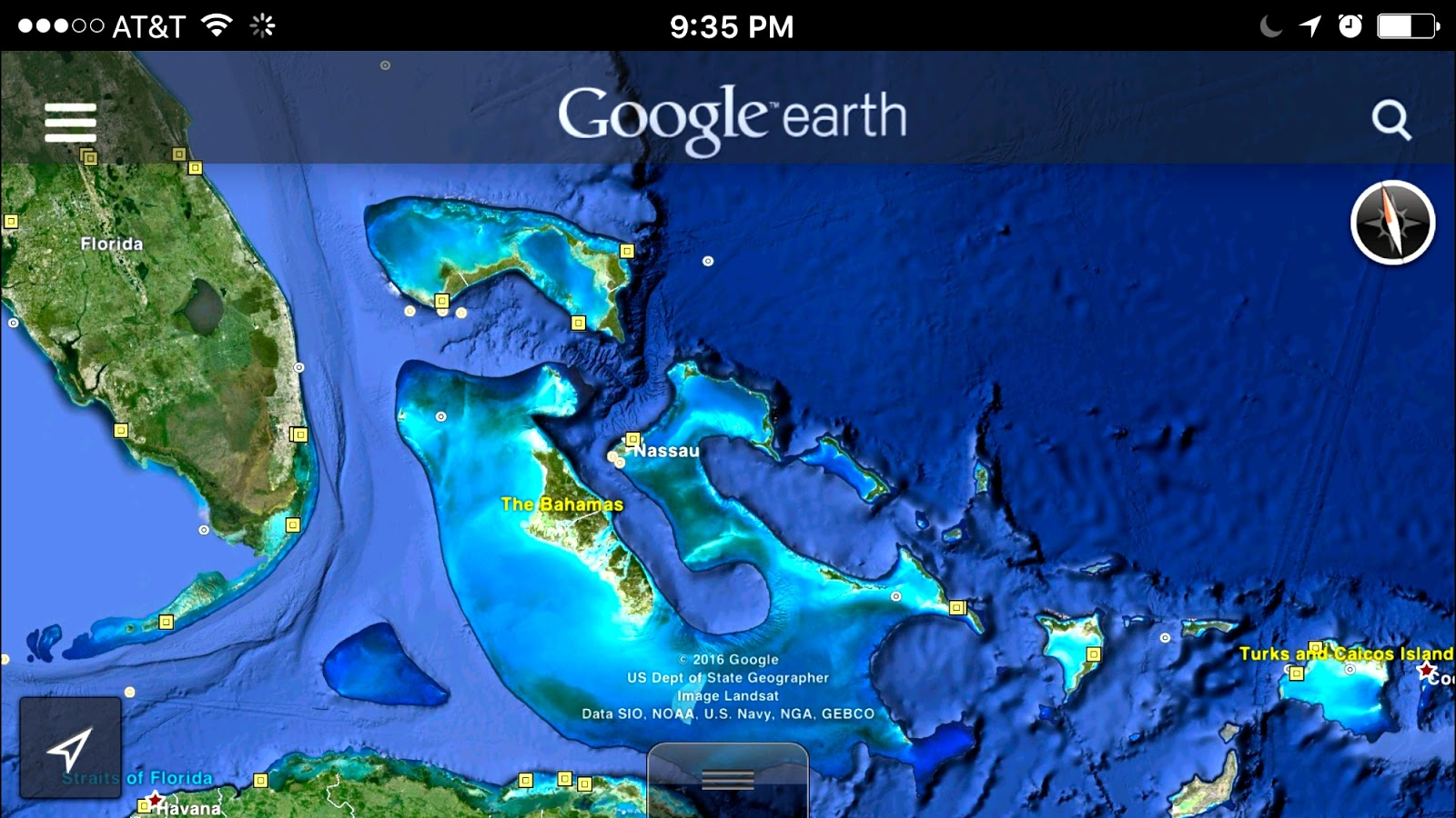 with water below planning to cross the gulf stream
