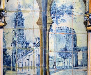 Plaza de España, Sevilla - Azulejo de Córdoba (Motivo central, laterales)