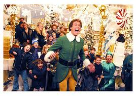 Buddy laughing in Elf 2003