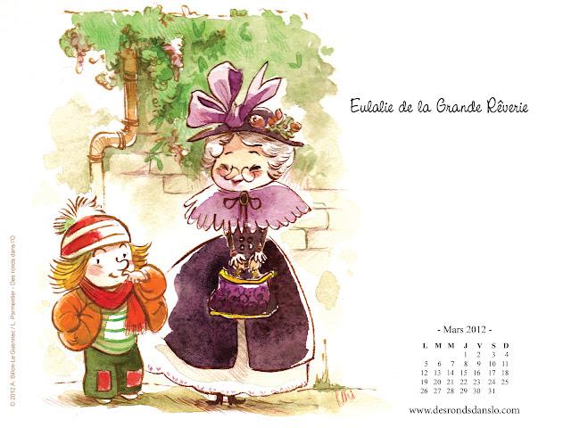 Fond d'écran mars 2012 - Eulalie de la Grande Rêverie n°1 (1600x1200)