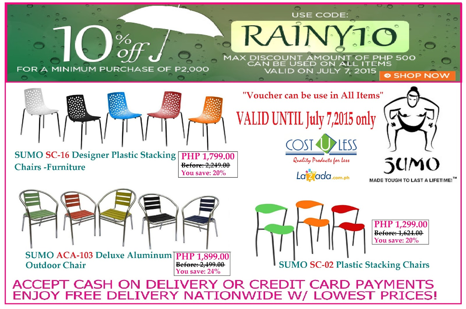 Restaurant Furniture  Stacking Chairs Sale At Lazada Rainy Season Promo