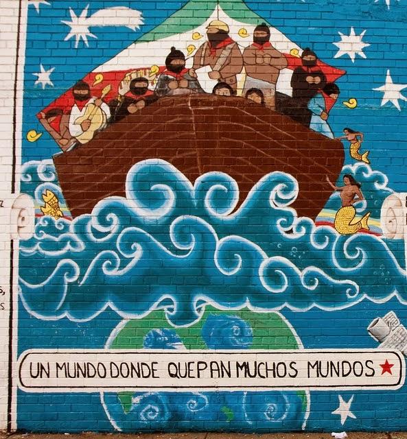 La voz del an huac sexta x la libre palestina la nakba for Mural zapatista