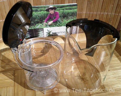 Teekenner-Kanne - Siebeinsatz und Kanne