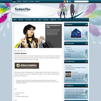 FashionPlus blogger template. template blogspot magazine style. download fashion blogger template