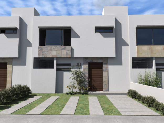 Fachadas de casas modernas marzo 2014 for Casa moderna blanca