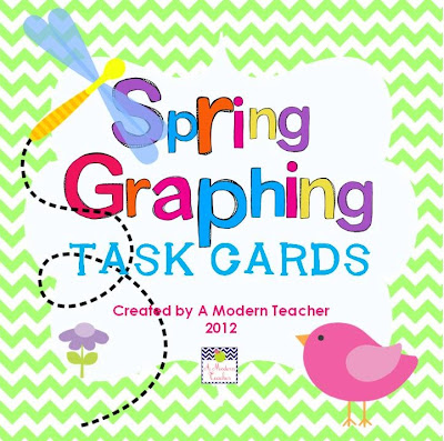Spring Graphing Task Cards www.amodernteacher.com