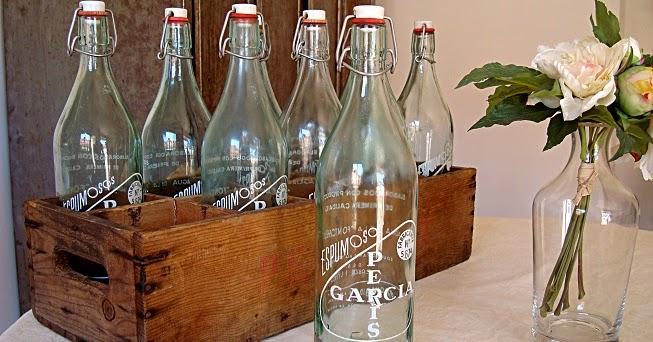 Kp tienda vintage online caja de botellas antiguas de - Comprar maletas antiguas decoracion ...