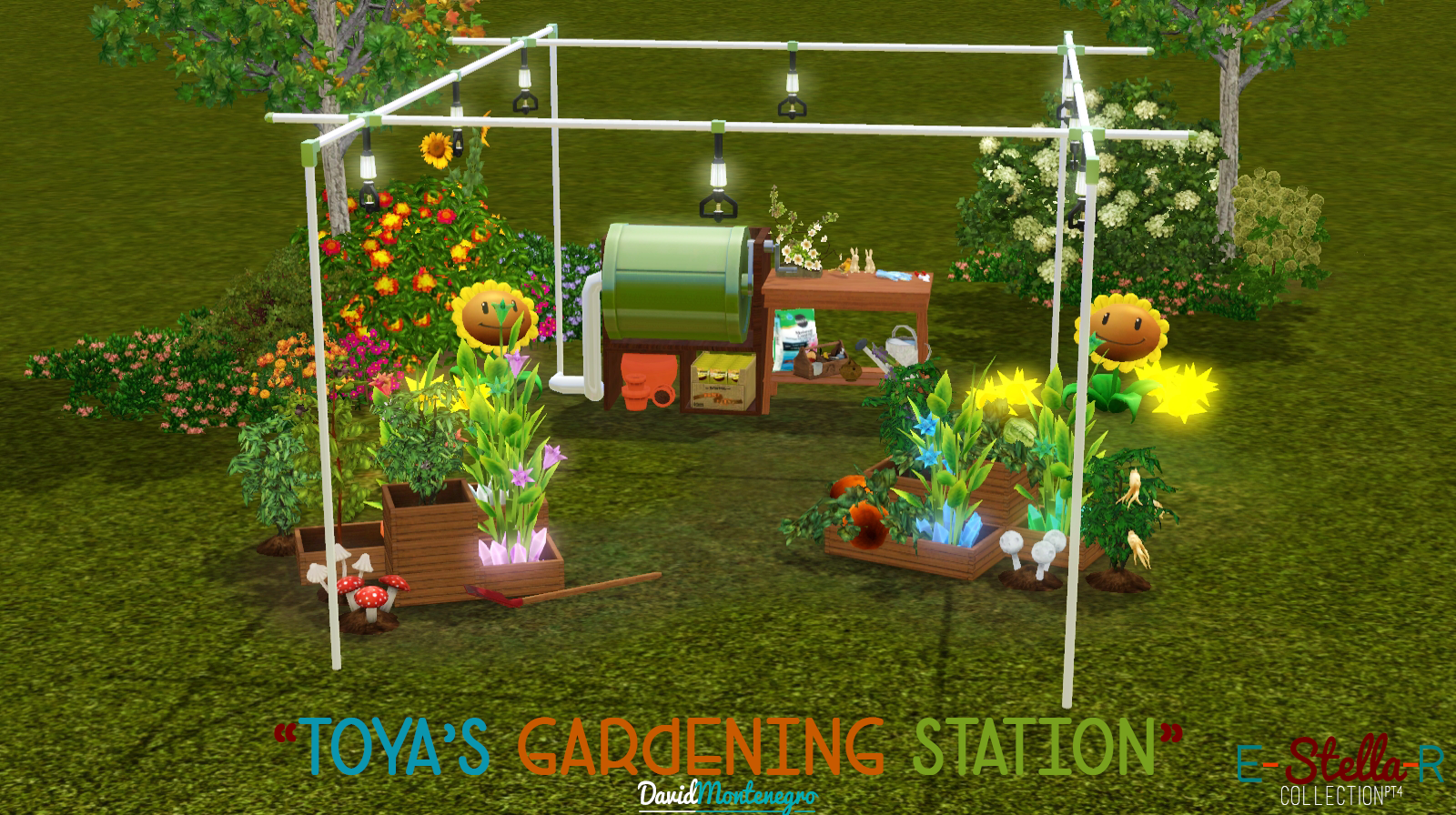 My sims 3 blog toya 39 s gardening station by david montenegro for Sims 3 garden design ideas