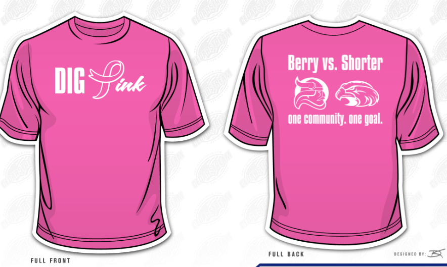 Berry College Volleyball: Dig Pink - Jersey Auction and more!