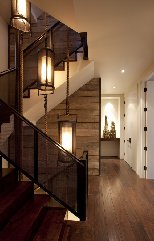 Interior design musings stairwell lighting for Gorgeous modern staircase wall design
