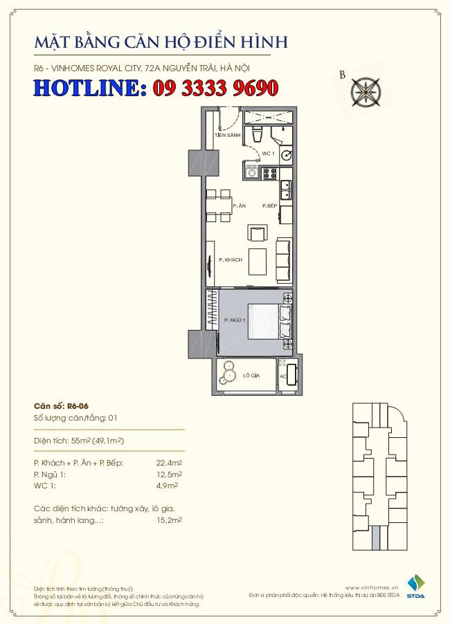 căn hộ royal city r6 - 06
