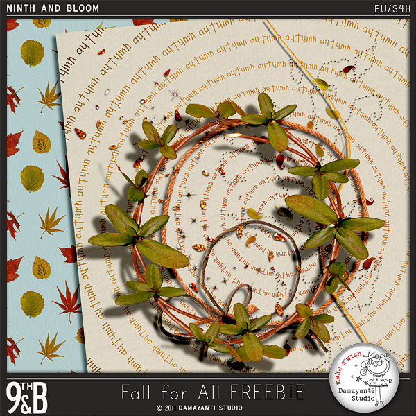 "Free scrapbook ""Fall for all"" from Damayanti Studio"