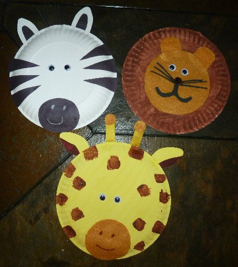 1 paper plate lion craft