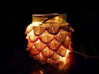 Свещник с коледни лампички Lumino con lucine di natale
