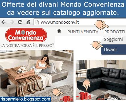 Risparmiello: offerte divani mondo convenienza