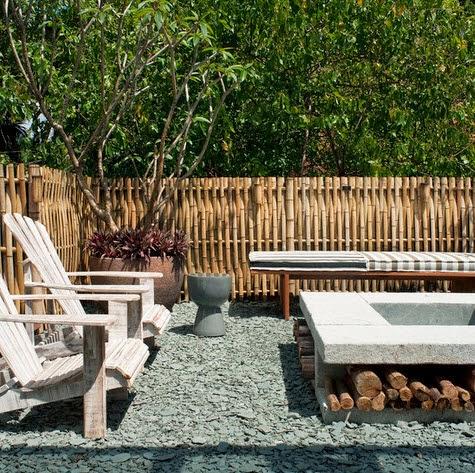 Cerco de bambú especial para lugares rústicos