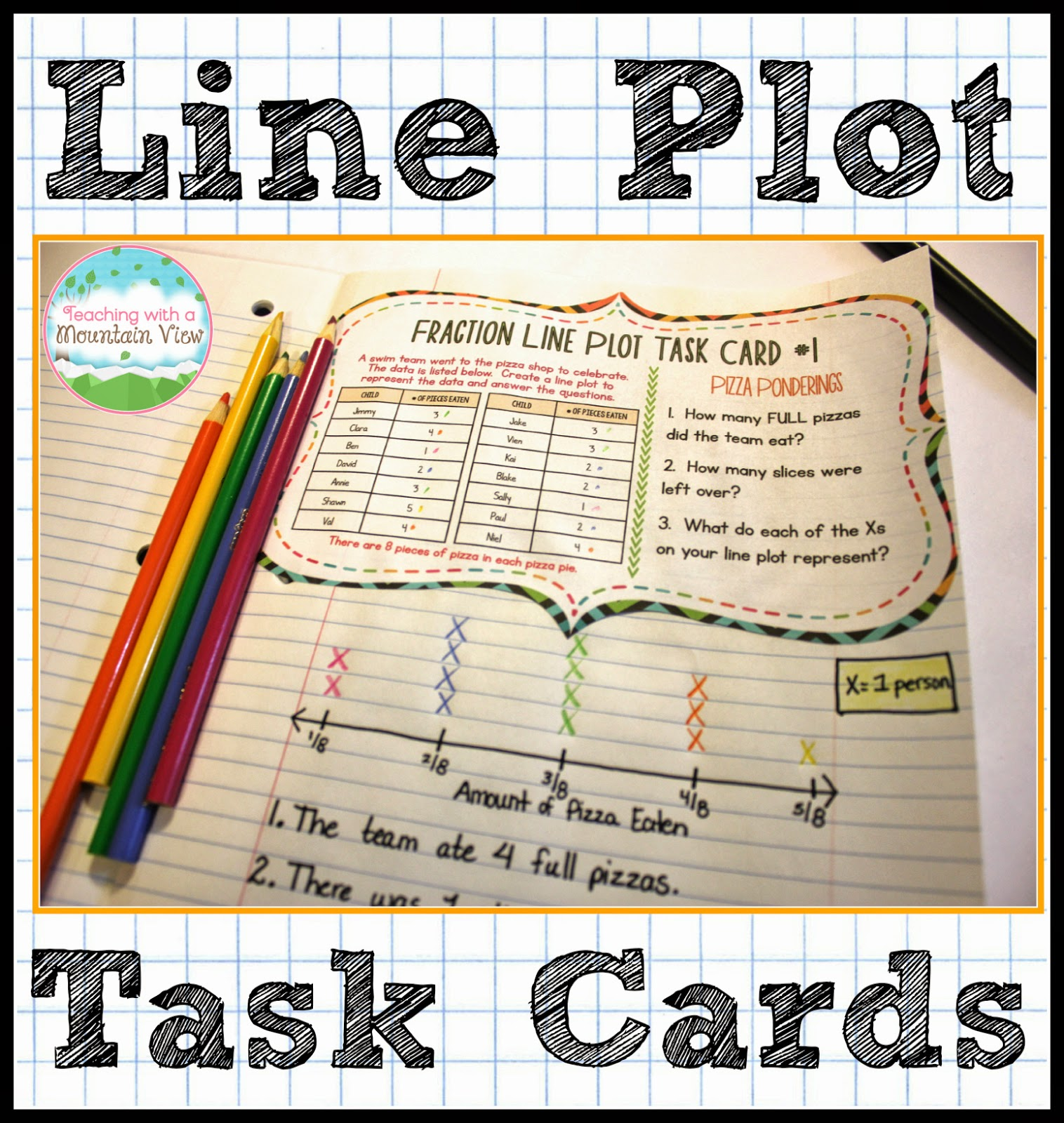 Worksheet Interactive Line Plots teaching with a mountain view line plot activities and resources in this last example the student generated using data from card time however task is interact